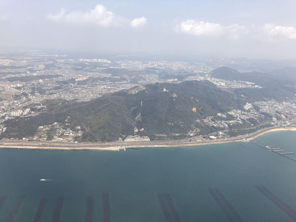 飛行機から五色塚古墳