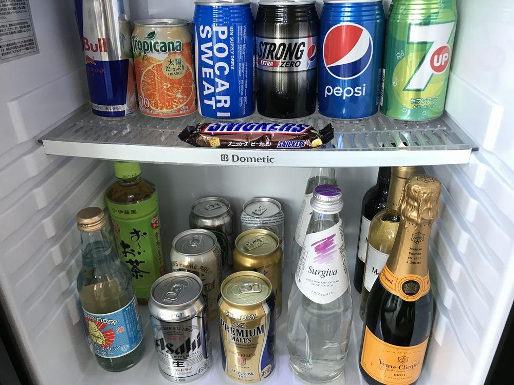 大阪マリオット都ホテルの冷蔵庫の中