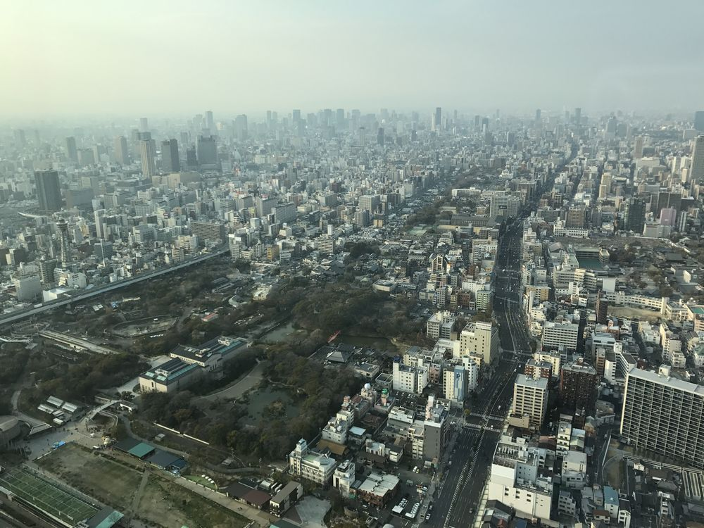 大阪マリオット都ホテルからの眺め1