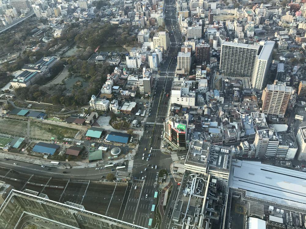 大阪マリオット都ホテルからの天王寺公園