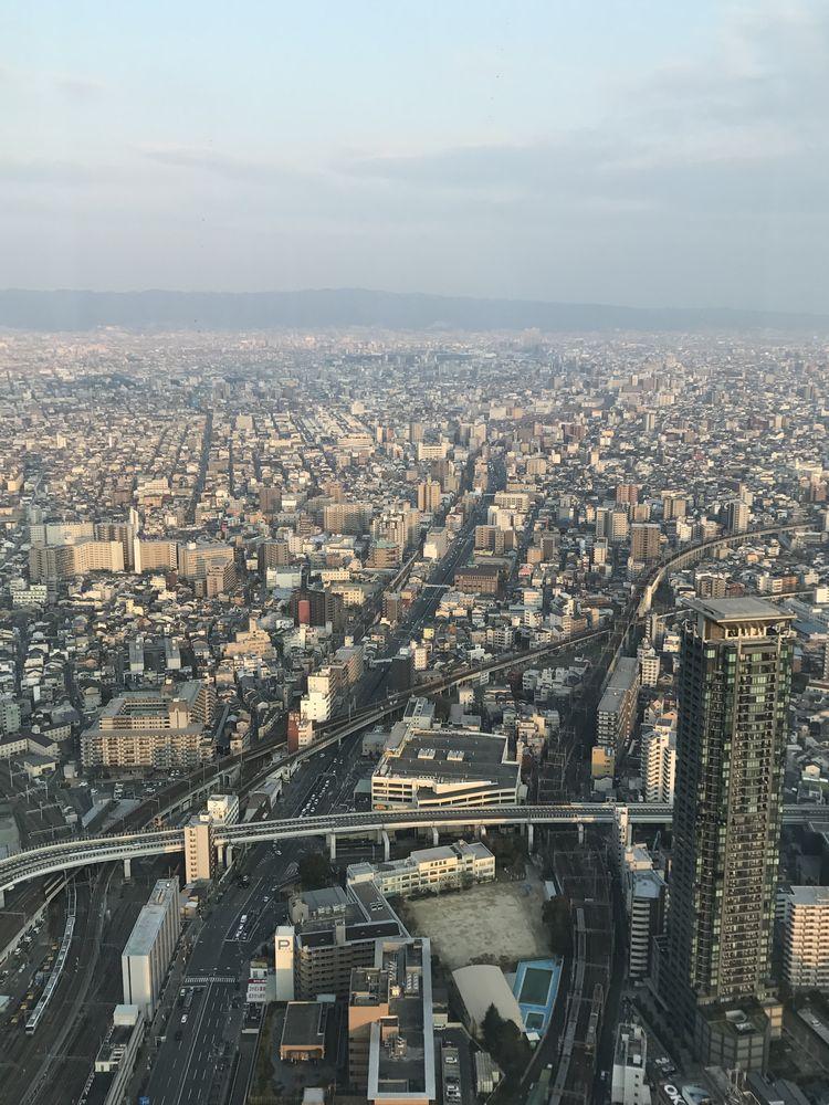 大阪マリオット都ホテルから生駒山