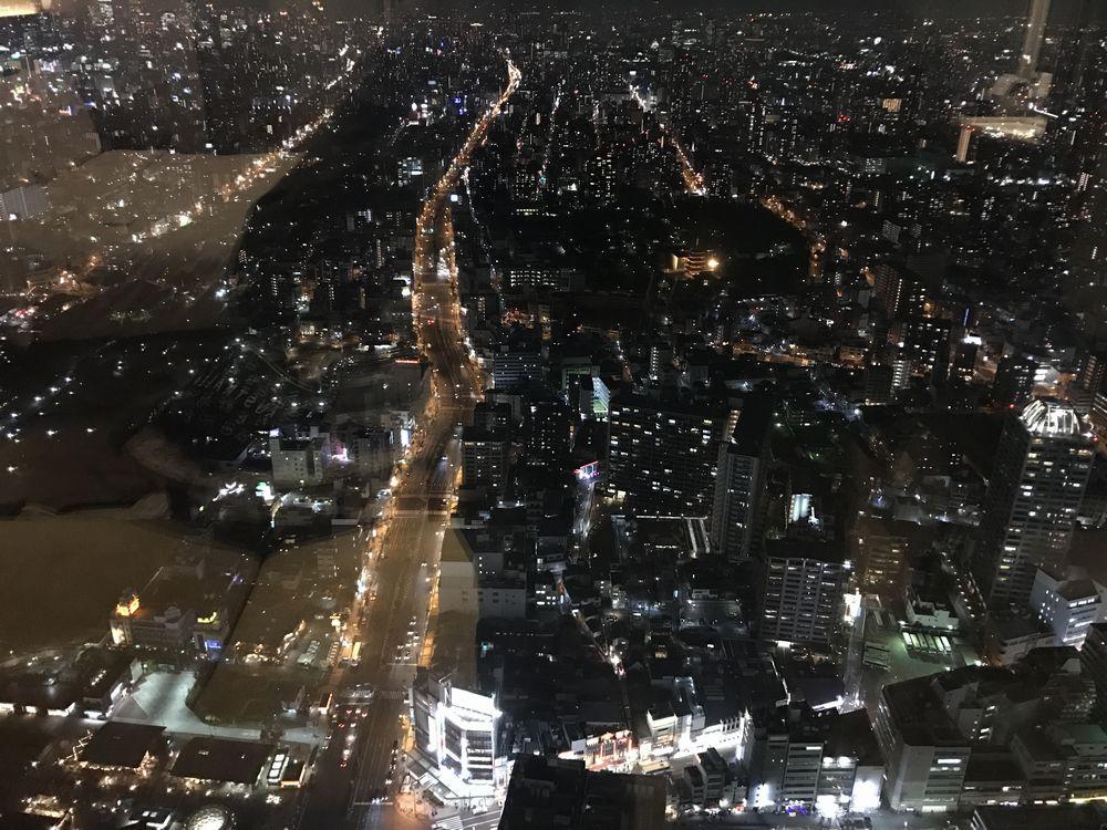 大阪マリオット都ホテルからの夜景
