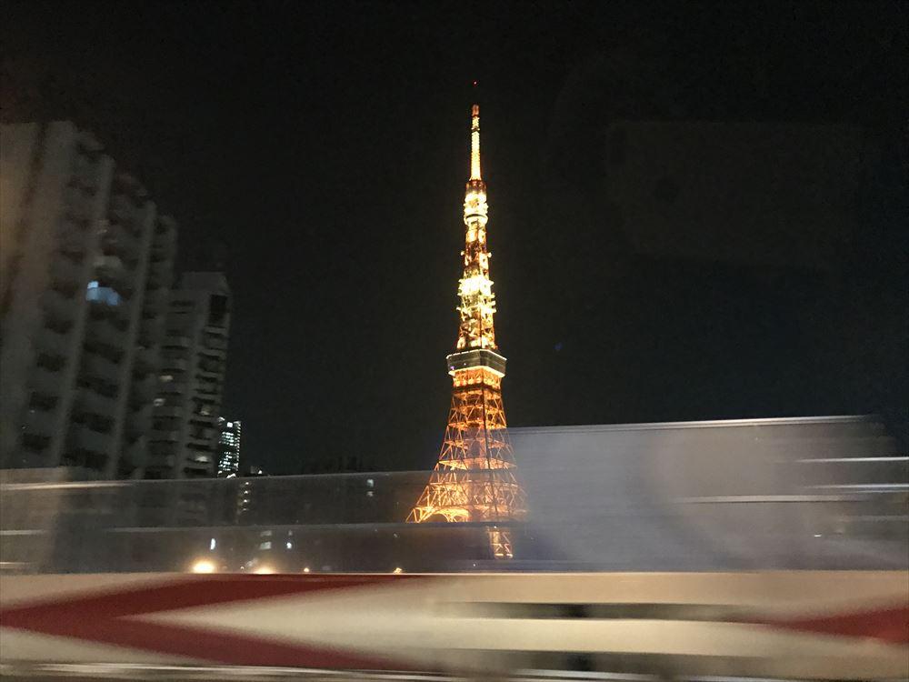首都高から東京タワー