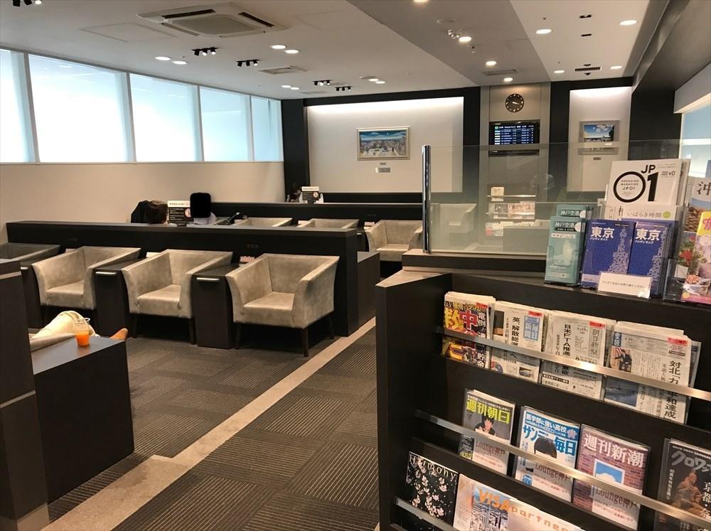 神戸空港のラウンジ神戸の座席配置1