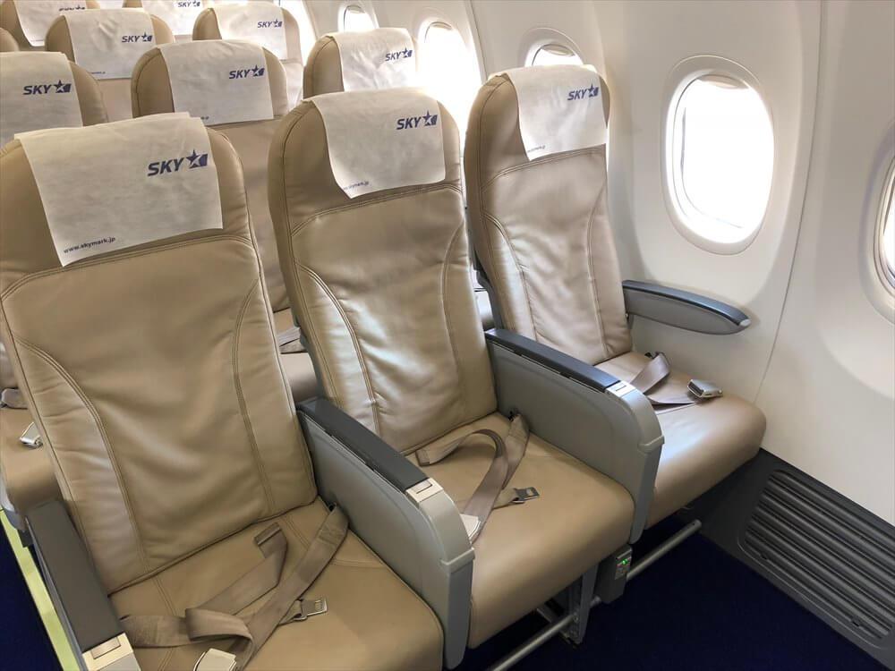 スカイマーク105便の1A座席
