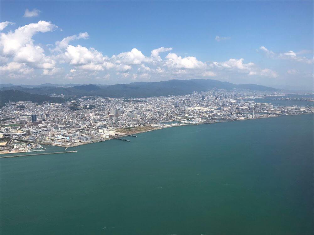 スカイマークから見た神戸市街地