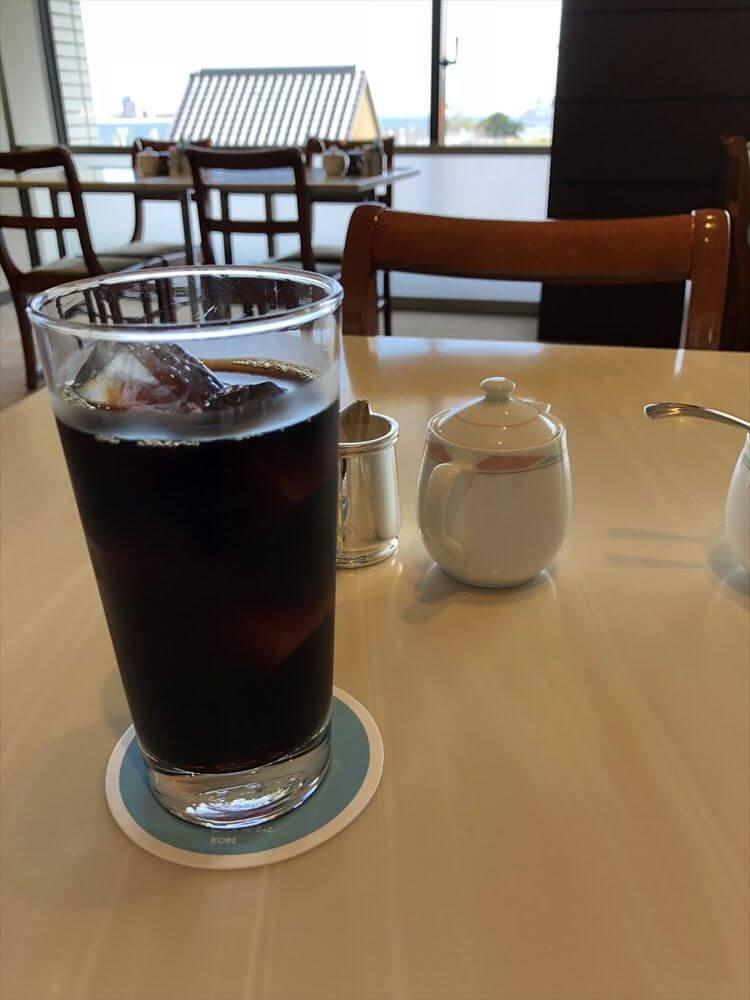 ホテルオークラ神戸のカメリアのアイスコーヒー