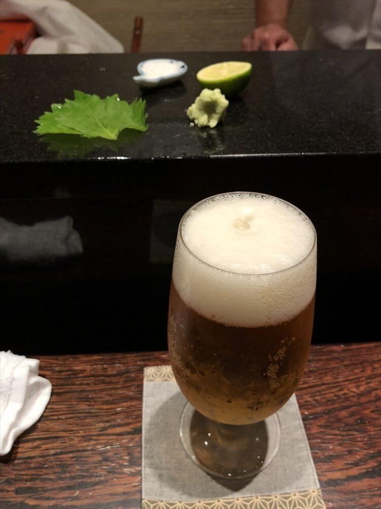 明石 渾 鮨のビール