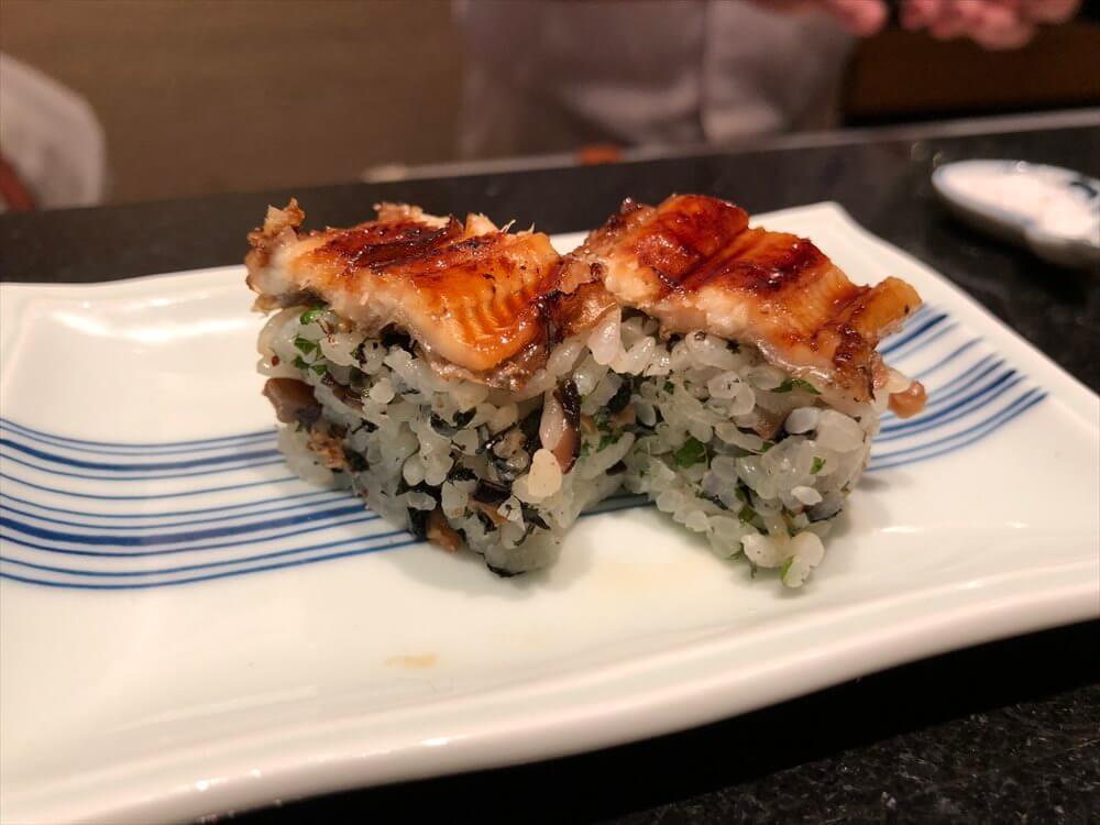 明石 渾 鮨の穴子の棒寿司