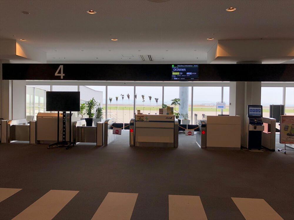神戸空港の4番搭乗口