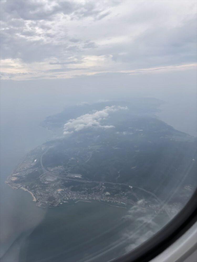 スカイマーク112便からの淡路島