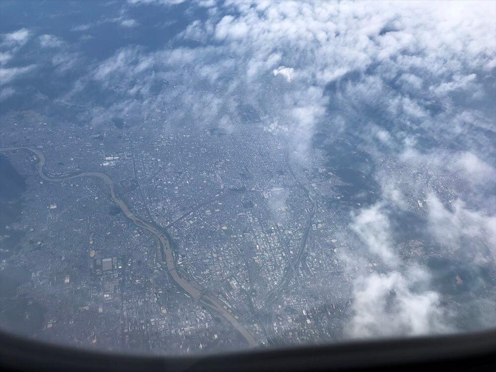 スカイマーク112便からの京都