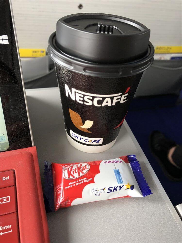 スカイマーク112便のコーヒー