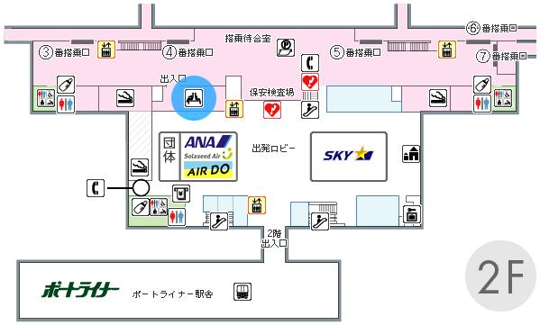 ラウンジ神戸の場所マップ