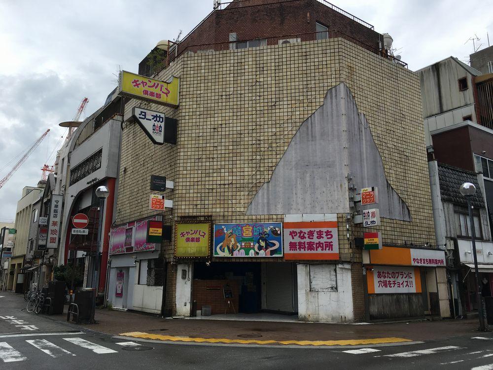 高知の夜の繁華街
