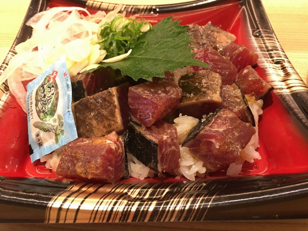 明神丸大橋通店のカツオのたたき丼