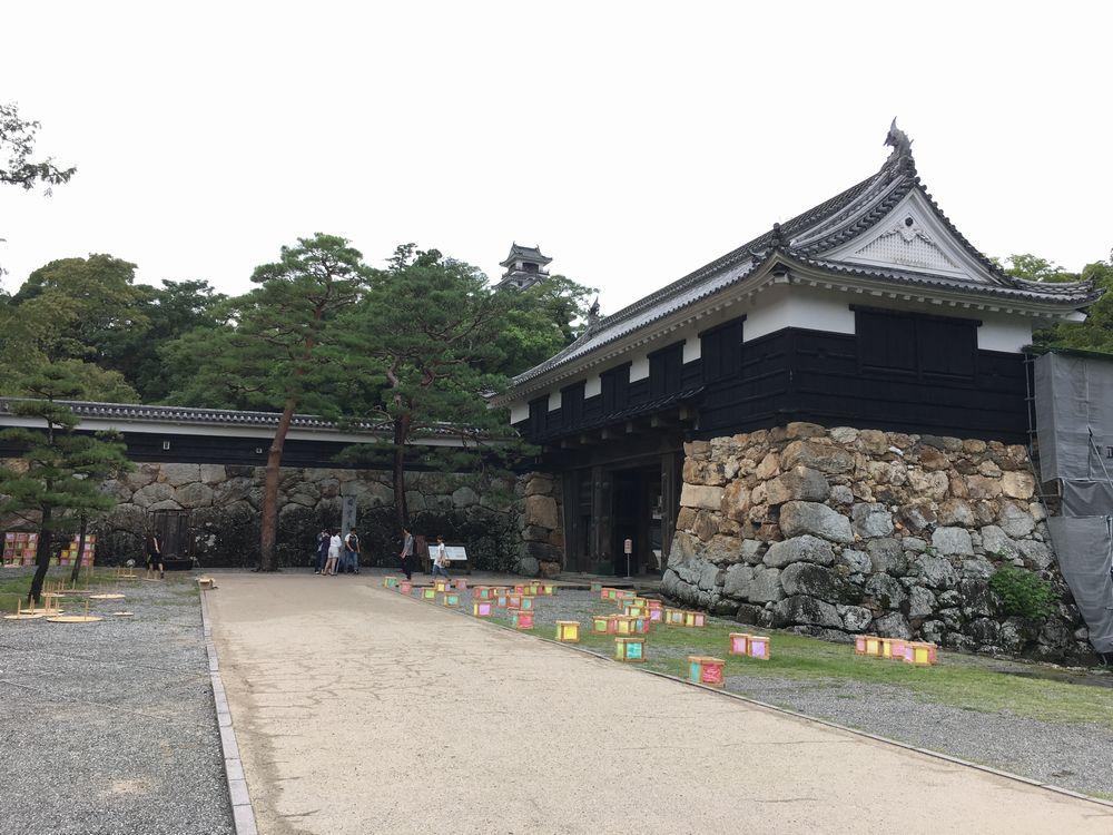 高知城の追手門1