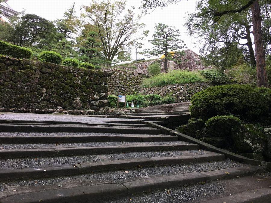 高知城の階段1