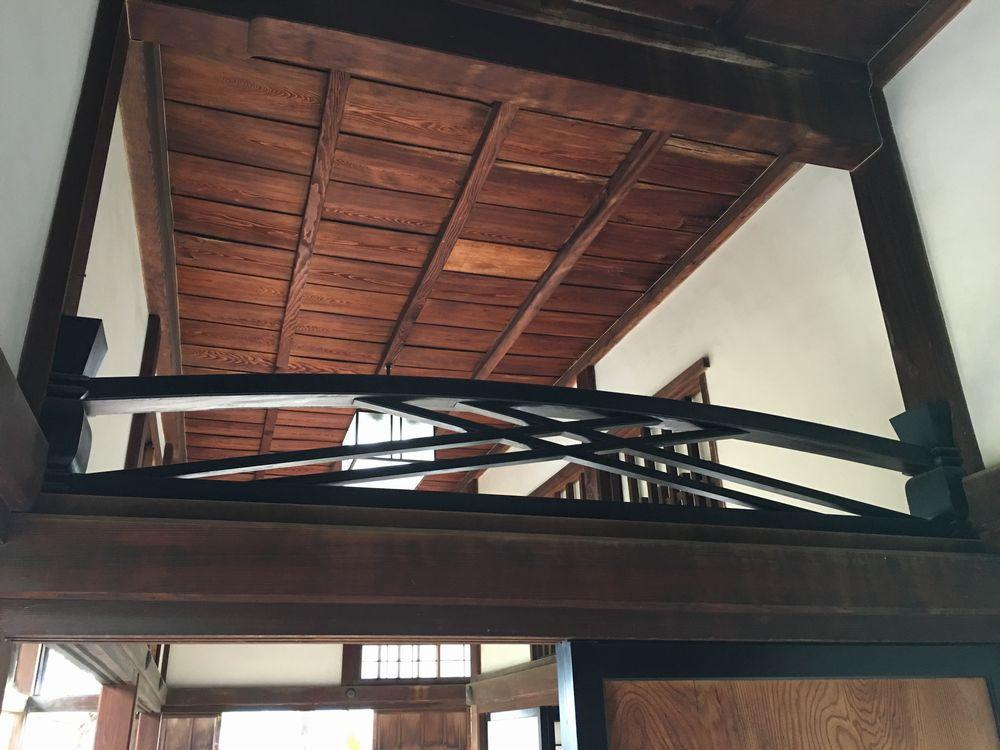 高知城の竹の節欄間