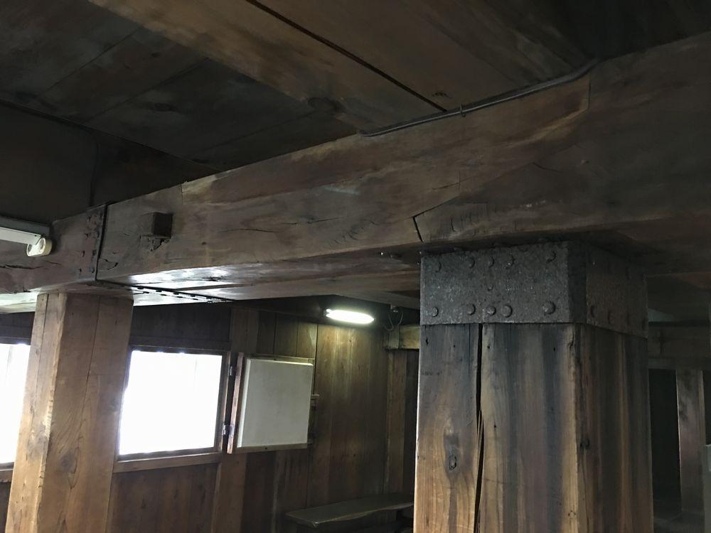 高知城の木組み