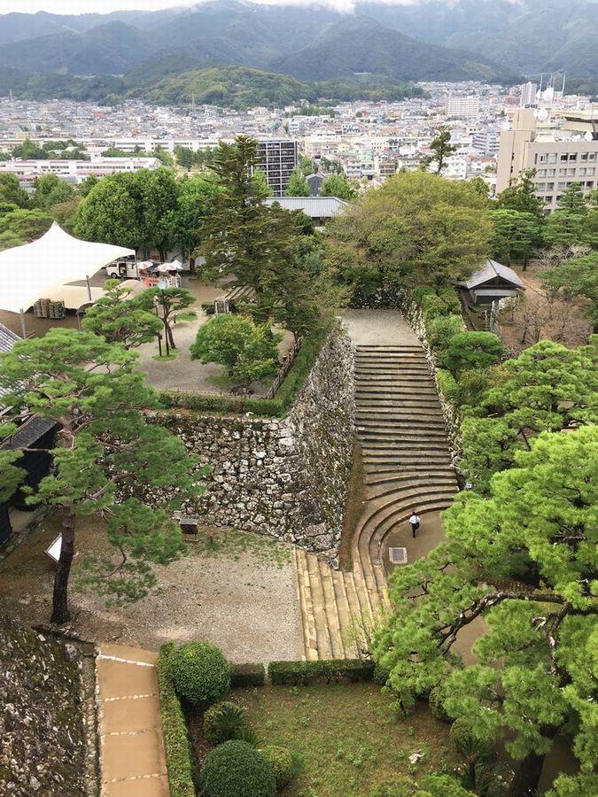 高知城天守閣最上階からの眺め1