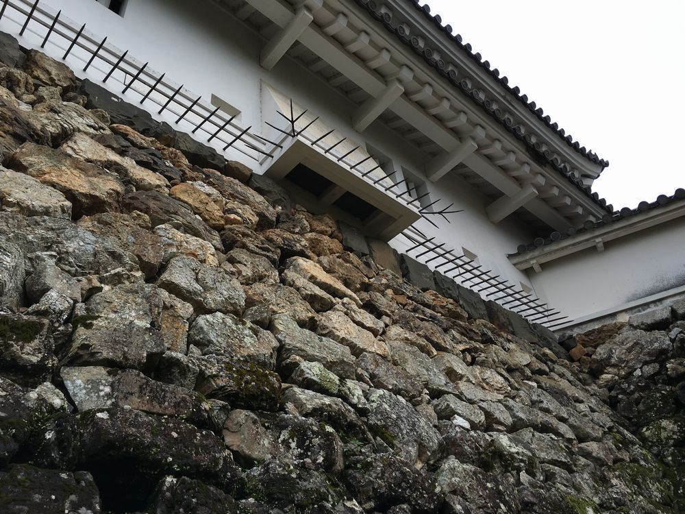 高知城天守閣の忍返