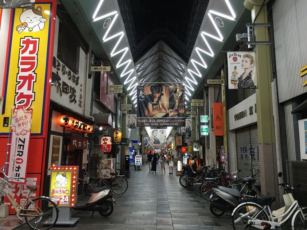 高松のライオン通りのポスター