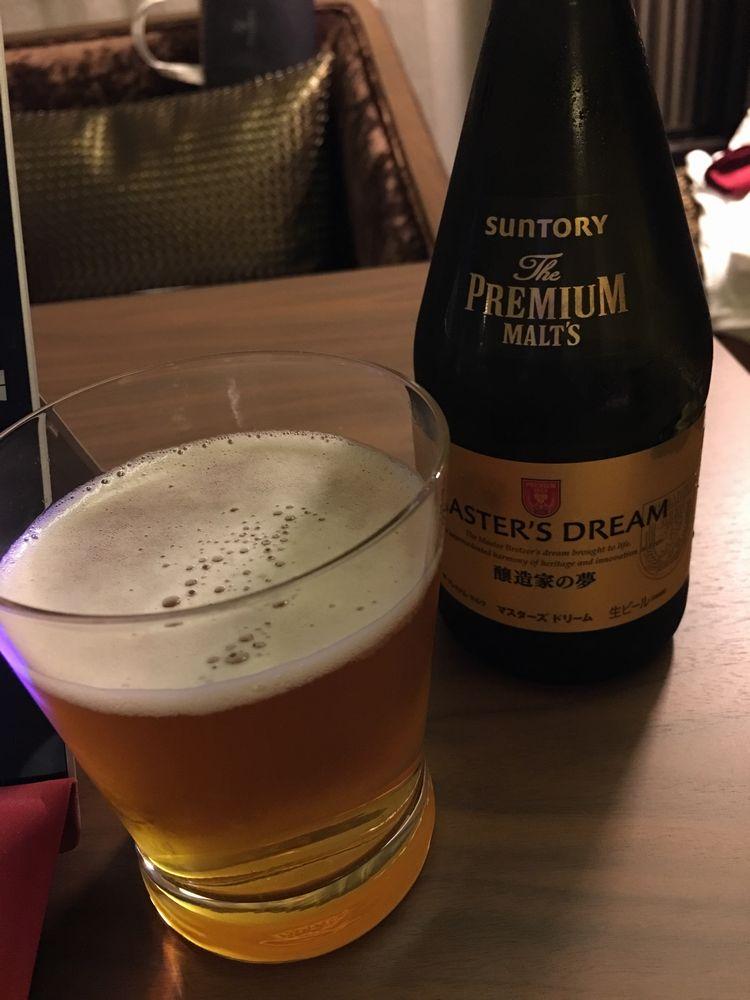 高松のホテルでビール