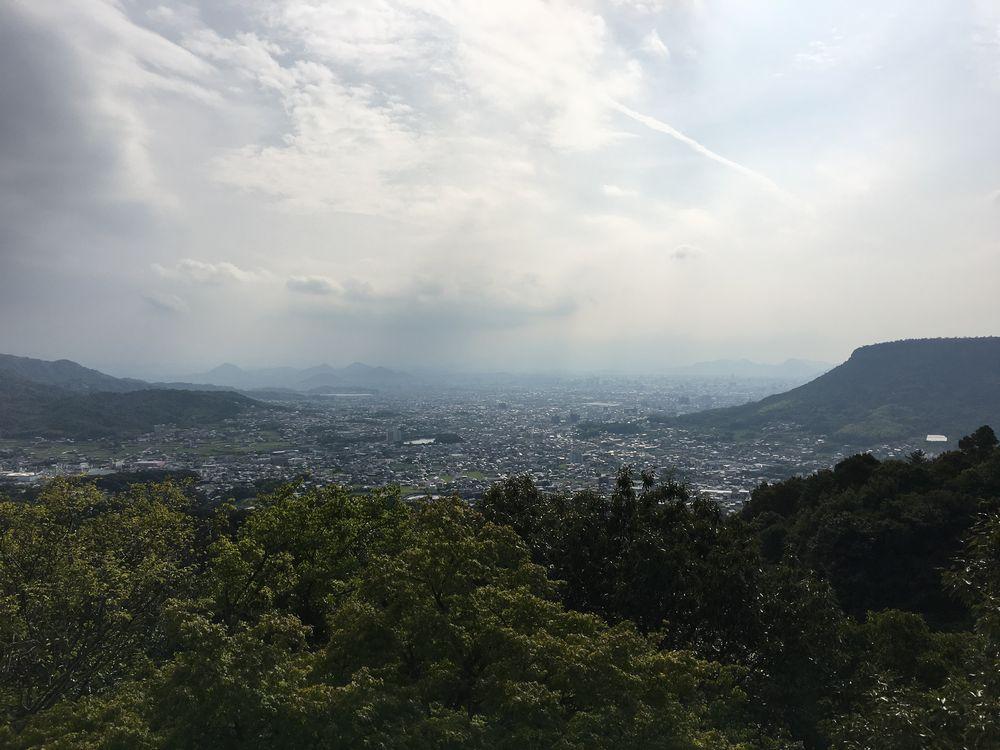 八栗寺の展望台から屋島
