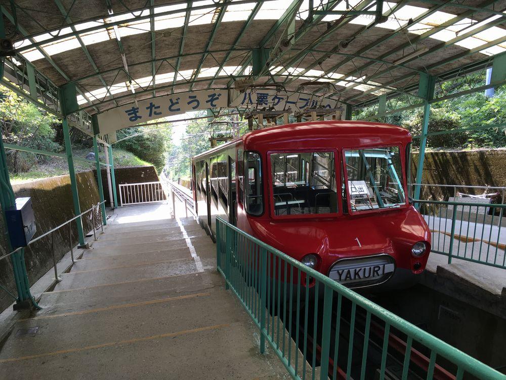 八栗寺のケーブルカー(復路)