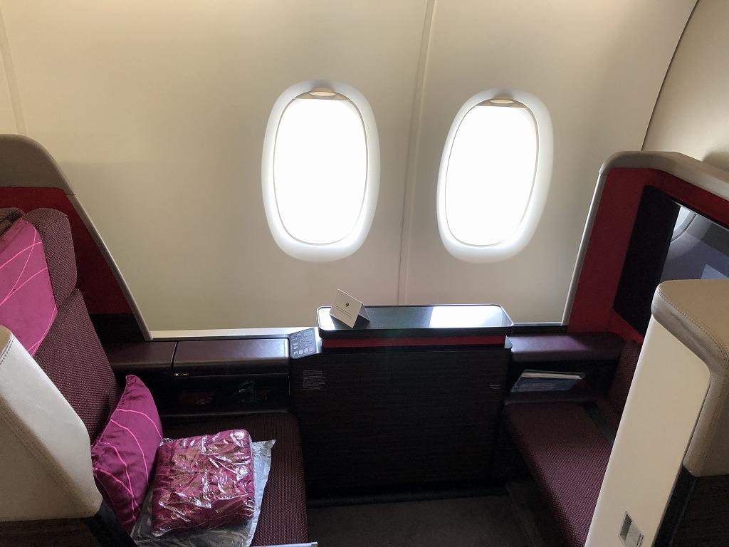 マレーシア航空MH89便のA380のビジネススイートの座席3