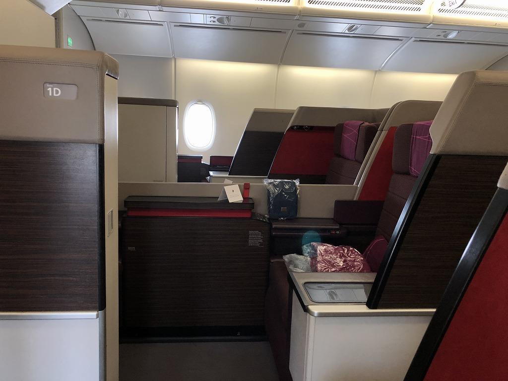 マレーシア航空MH89便のA380のビジネススイートの座席4