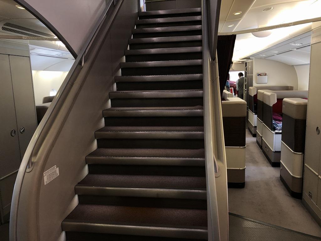 マレーシア航空のA380の階段