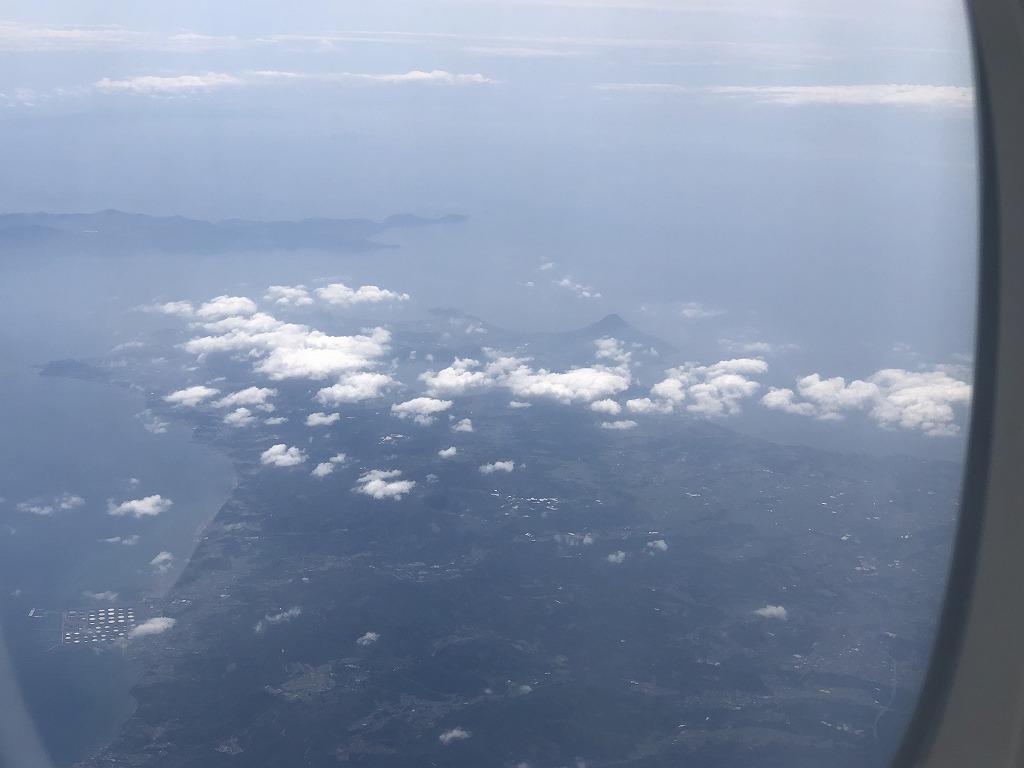 マレーシア航空MH89便から開聞岳