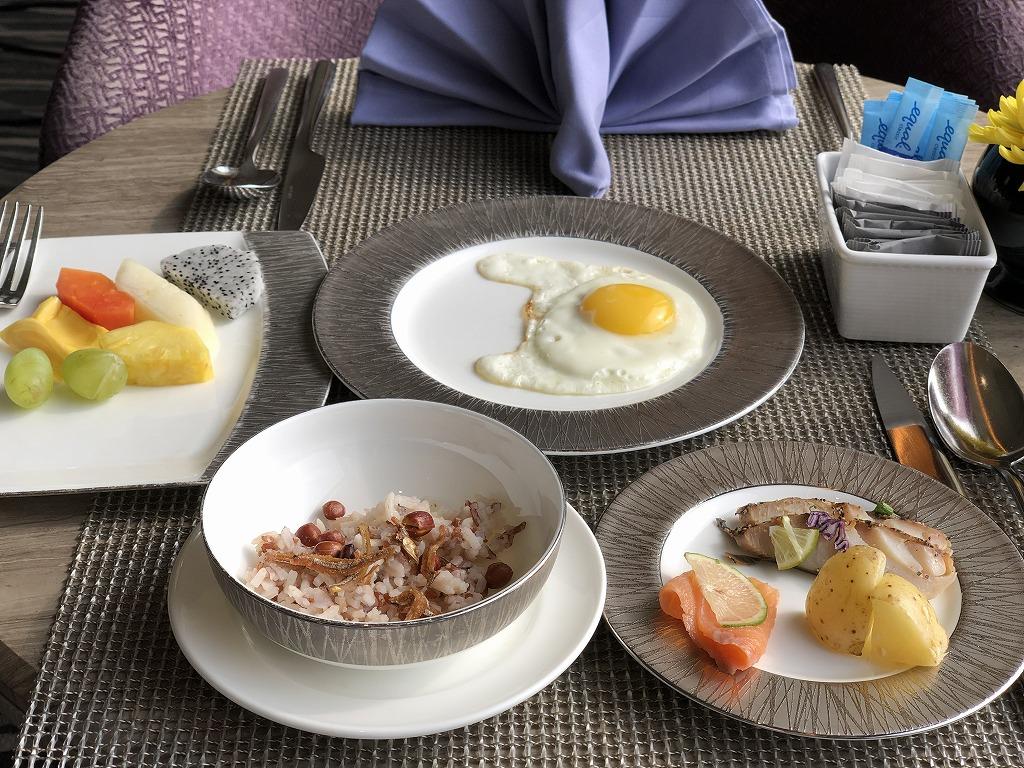 マンダリン オリエンタル クアラルンプールのクラブラウンジの朝食1