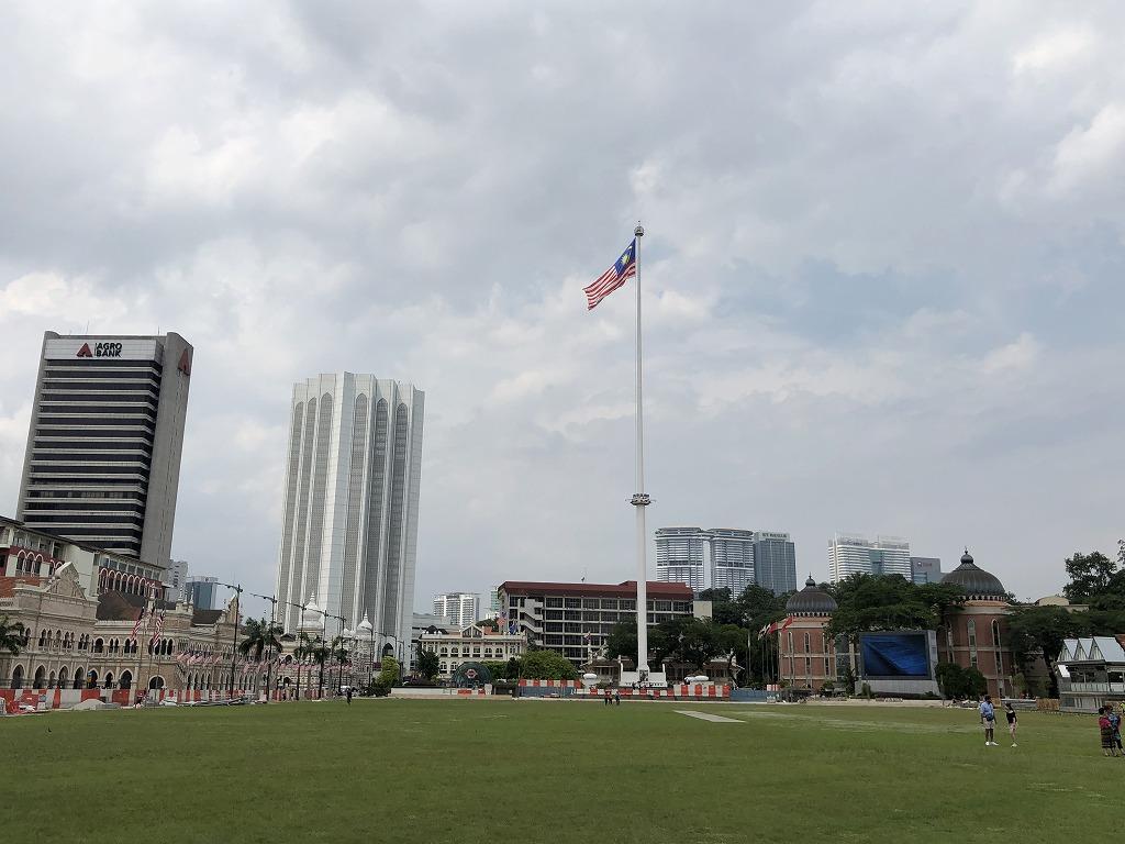 ムルデカ・スクエアのマレーシアの国旗