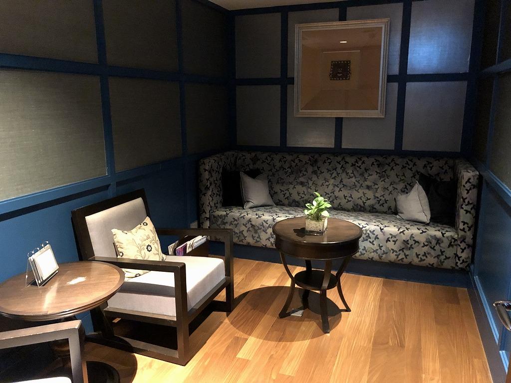 マンダリン オリエンタル クアラルンプールのスパの待合室