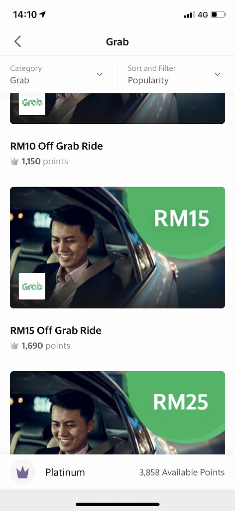 RM15 Off Grab Ride