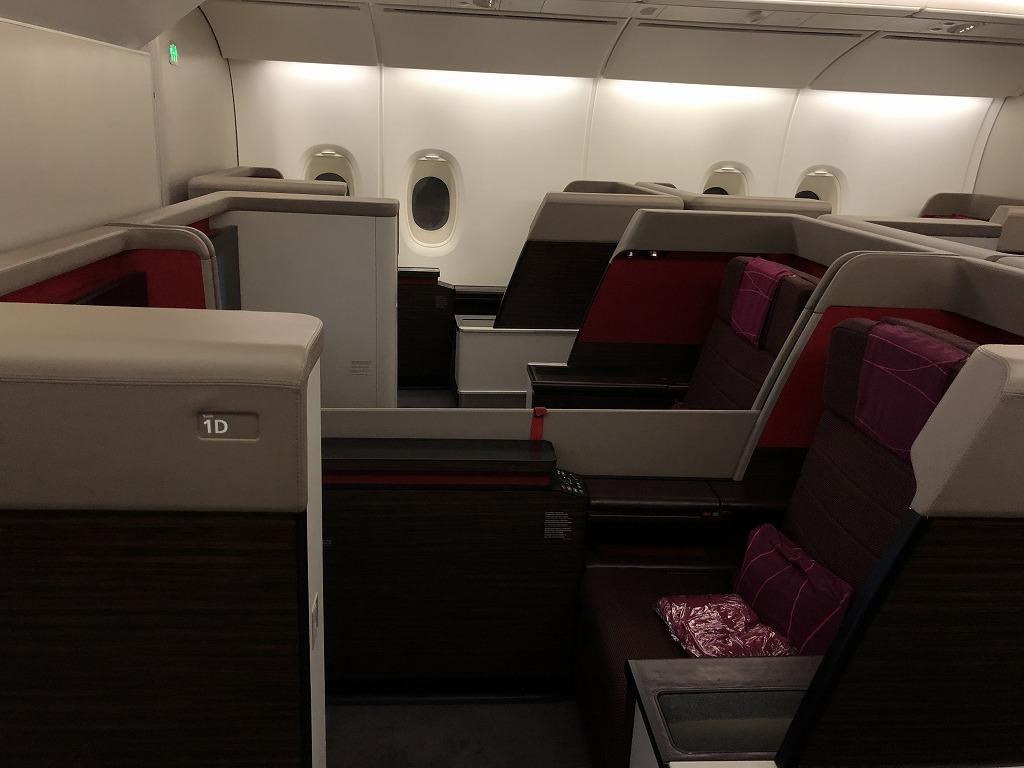 マレーシア航空MH88ビジネススイートの座席の埋まり状況