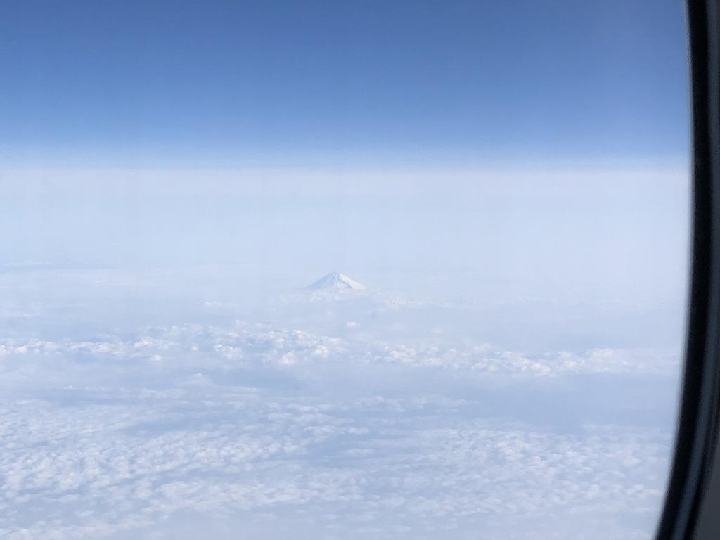 マレーシア航空MH88ビジネススイートからの富士山