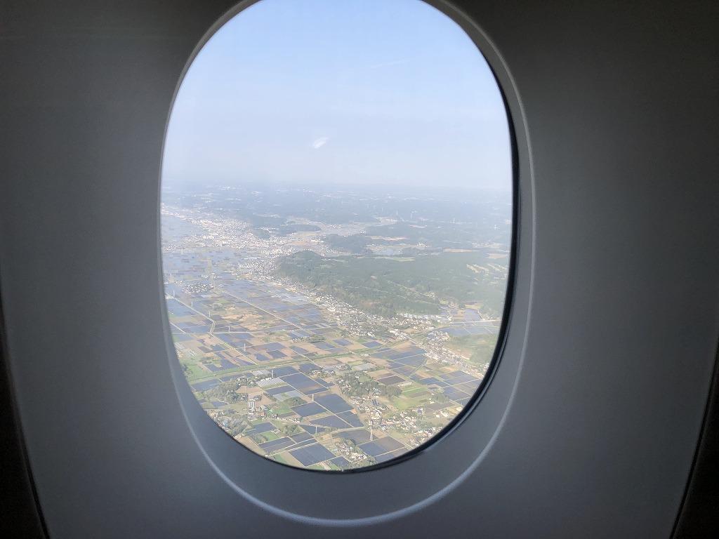 マレーシア航空MH88ビジネススイートからの千葉県上空