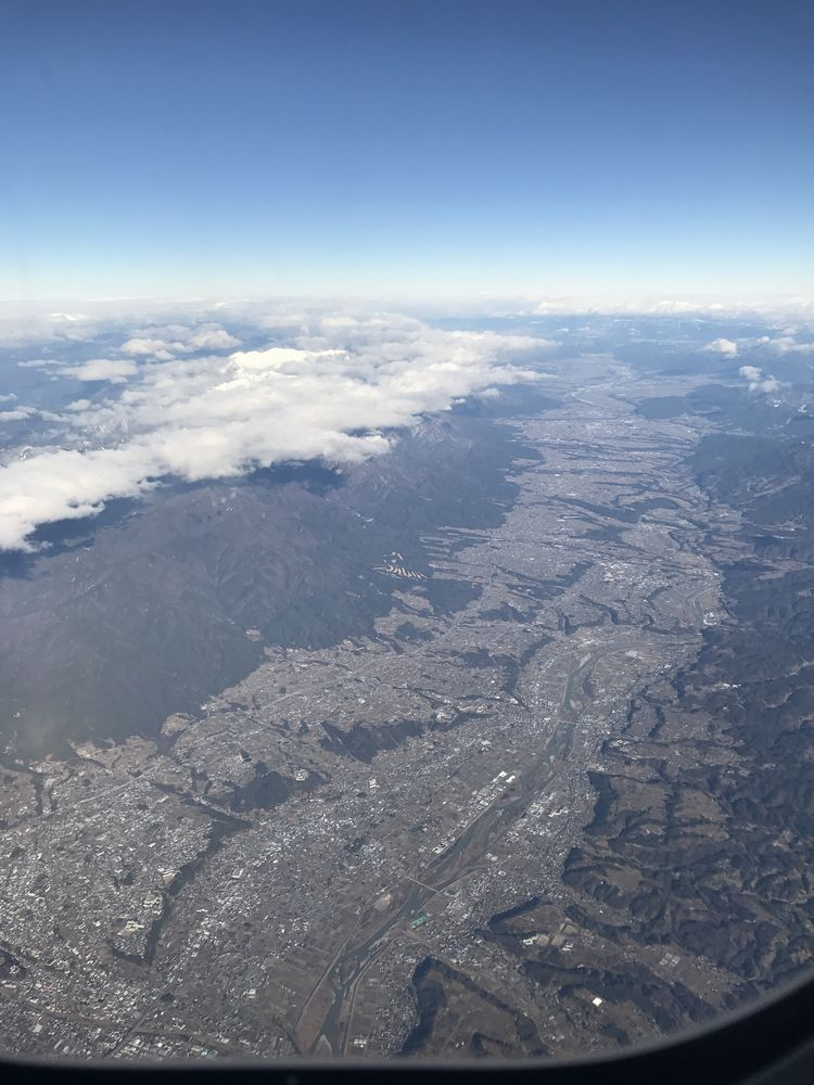 ANA675便から伊那谷