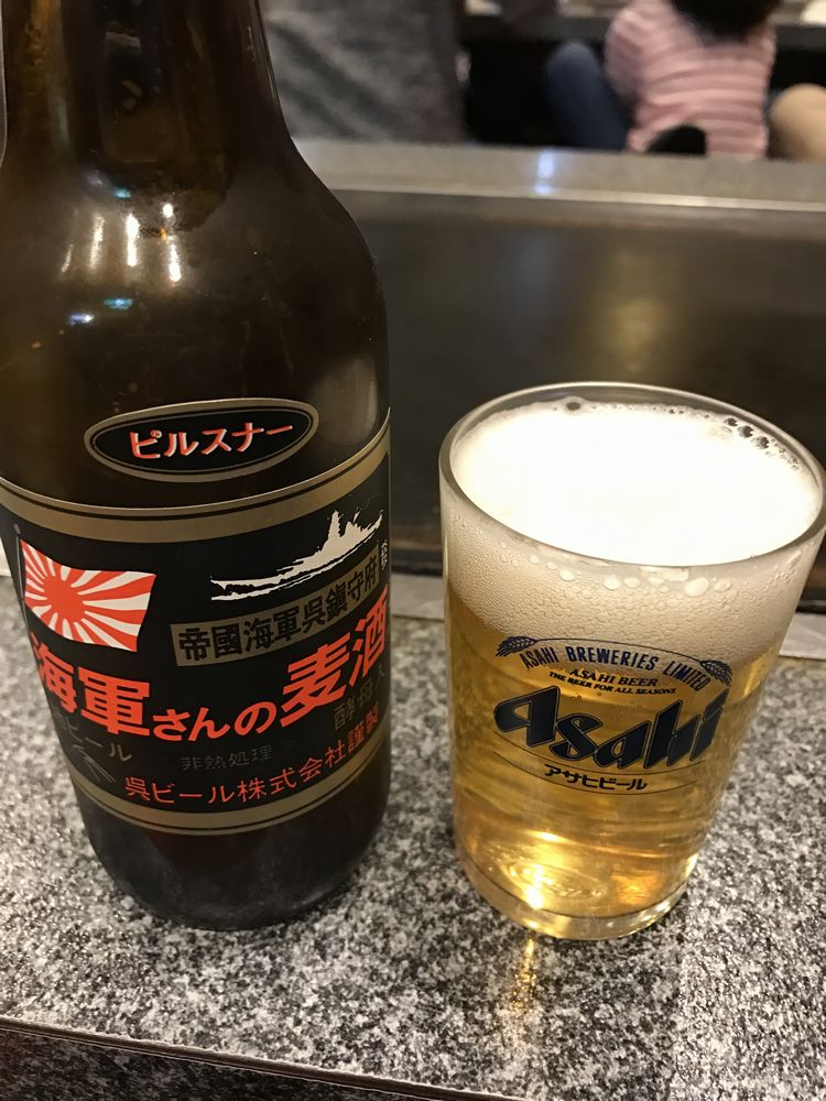 呉の多幸膳の海軍さんの麦酒