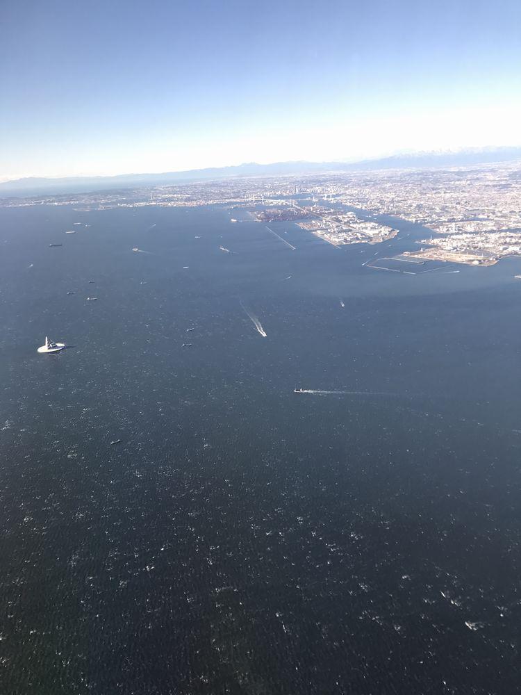 東京湾の白波
