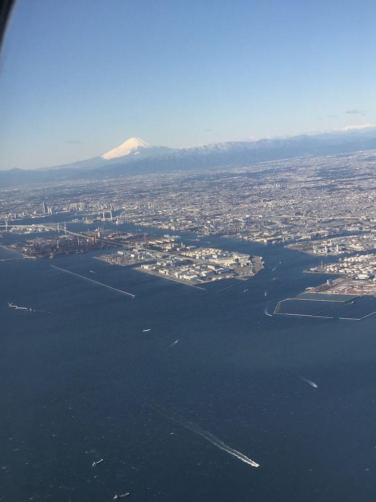 ANA675便から富士山