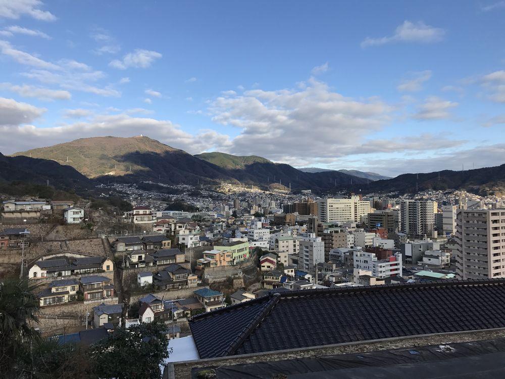 両城の200階段の頂上からの眺め