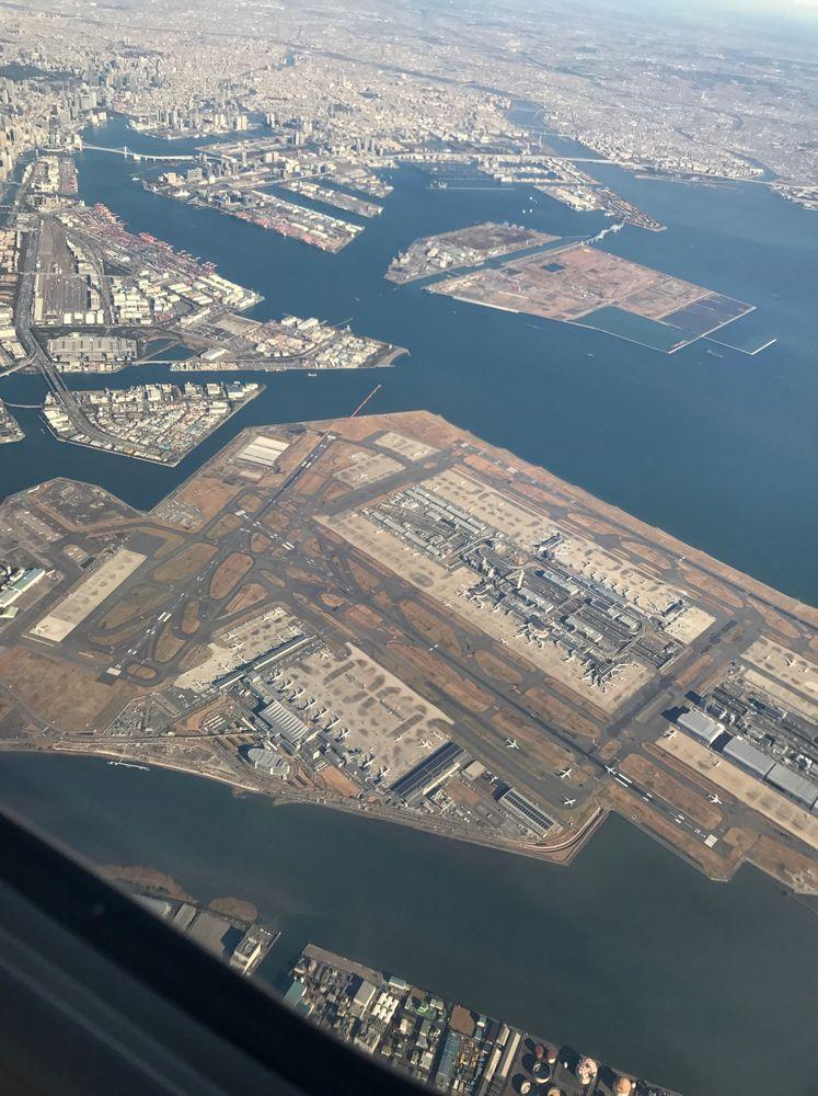 ANA675便から羽田空港