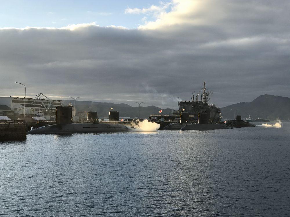 海上自衛隊呉基地の潜水艦・護衛艦3