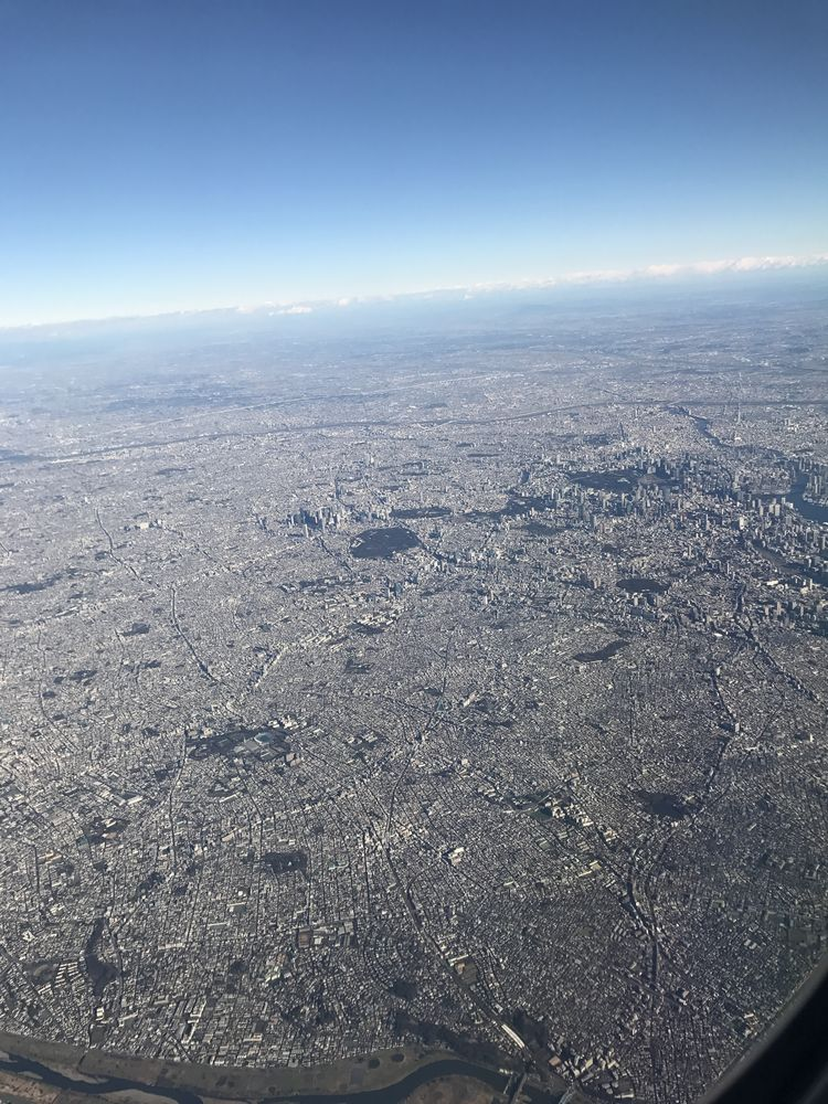 ANA675便から東京の都市