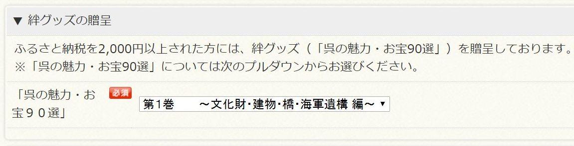 広島県呉市ふるさと納税の絆グッズの選択